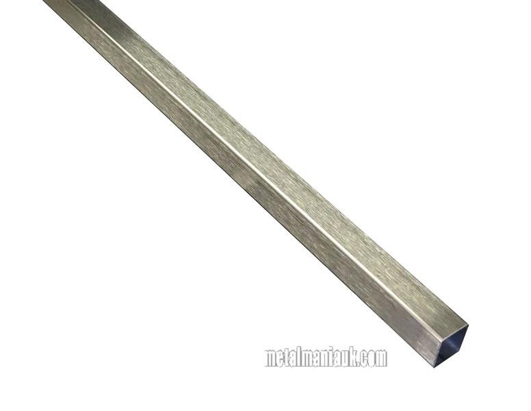 Stainless steel box section 15mm x 15mm x 1.5mm x 500mm D//P 1.4301 spec