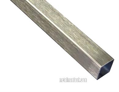 Buy Stainless steel box section 1.4301DP 20mm x 20mm x 2mm wall Online