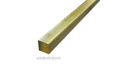 Buy Brass square bar CW614N CZ121 3/8