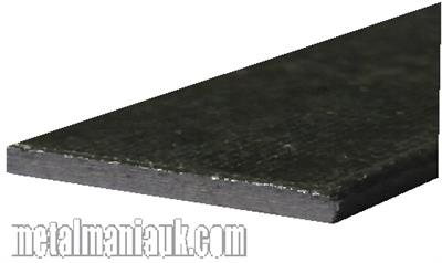 Buy Black Flat steel strip 75mm x 3mm Online