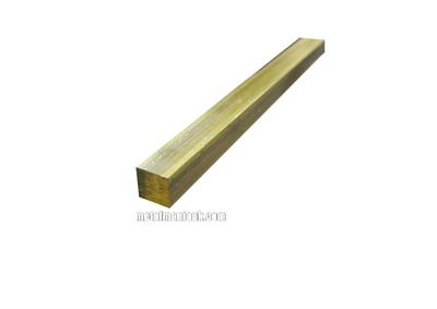 Buy Brass square bar CW614N CZ121 1/4