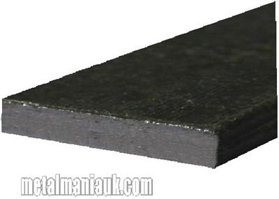 Buy Black Flat steel strip 75mm x 8mm Online