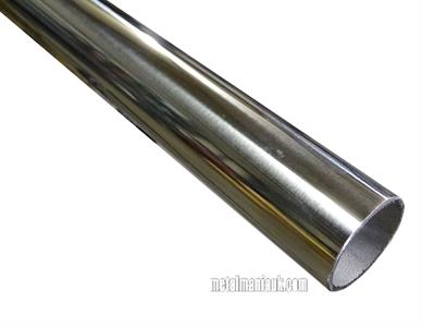 Buy Stainless steel tube 304 spec 25.4 (1 inch) O/D x 1.5mm wall mirror polished Online