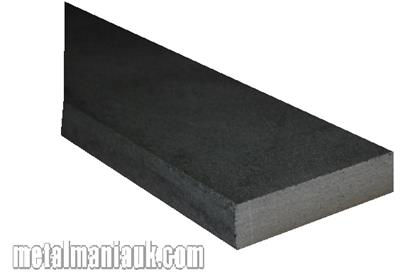 Buy Black flat steel strip 30mm x 6mm Online