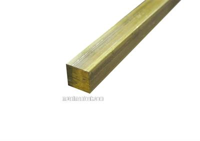 Buy Brass square bar CW614N CZ121 1/2