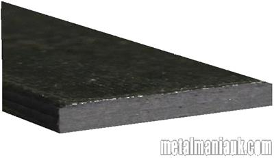 Buy Black Flat steel strip 100mm x 6mm Online