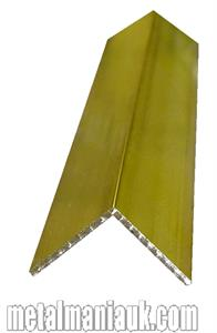 Buy Brass equal angle 1 x 1 inch x 1/8 Online